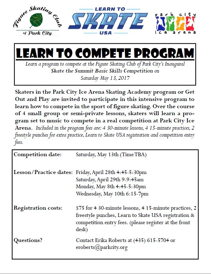 Learn to compete flyer 2017