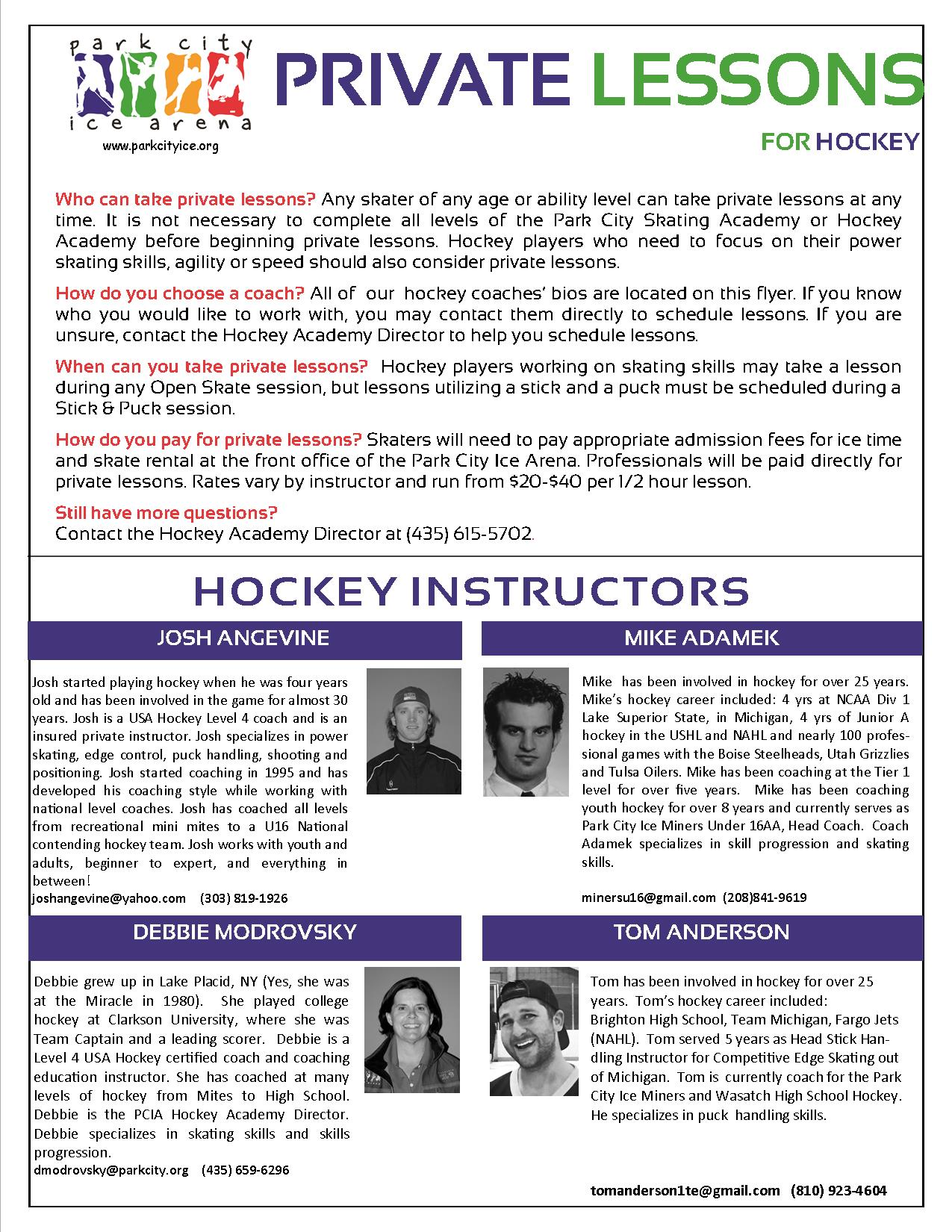 Private Lesson Hockey May 17
