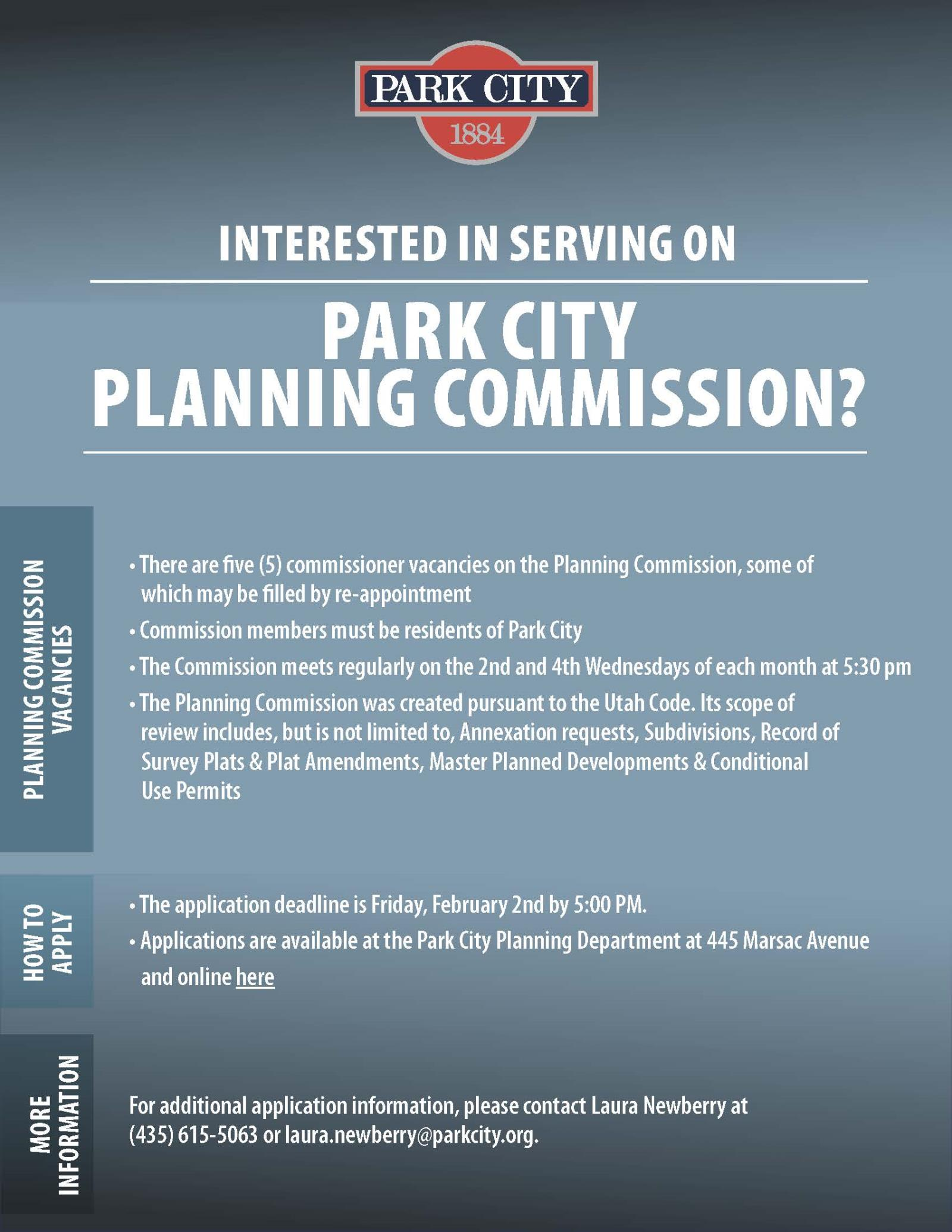 Planning commission flyer