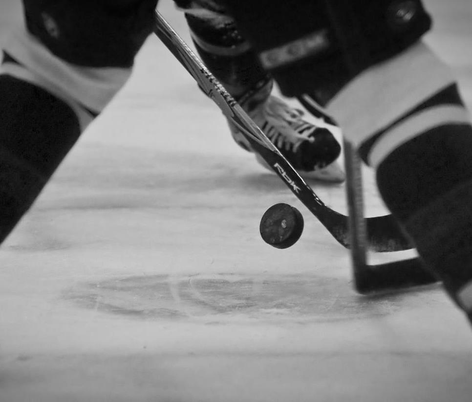 Puck Drop- B&W