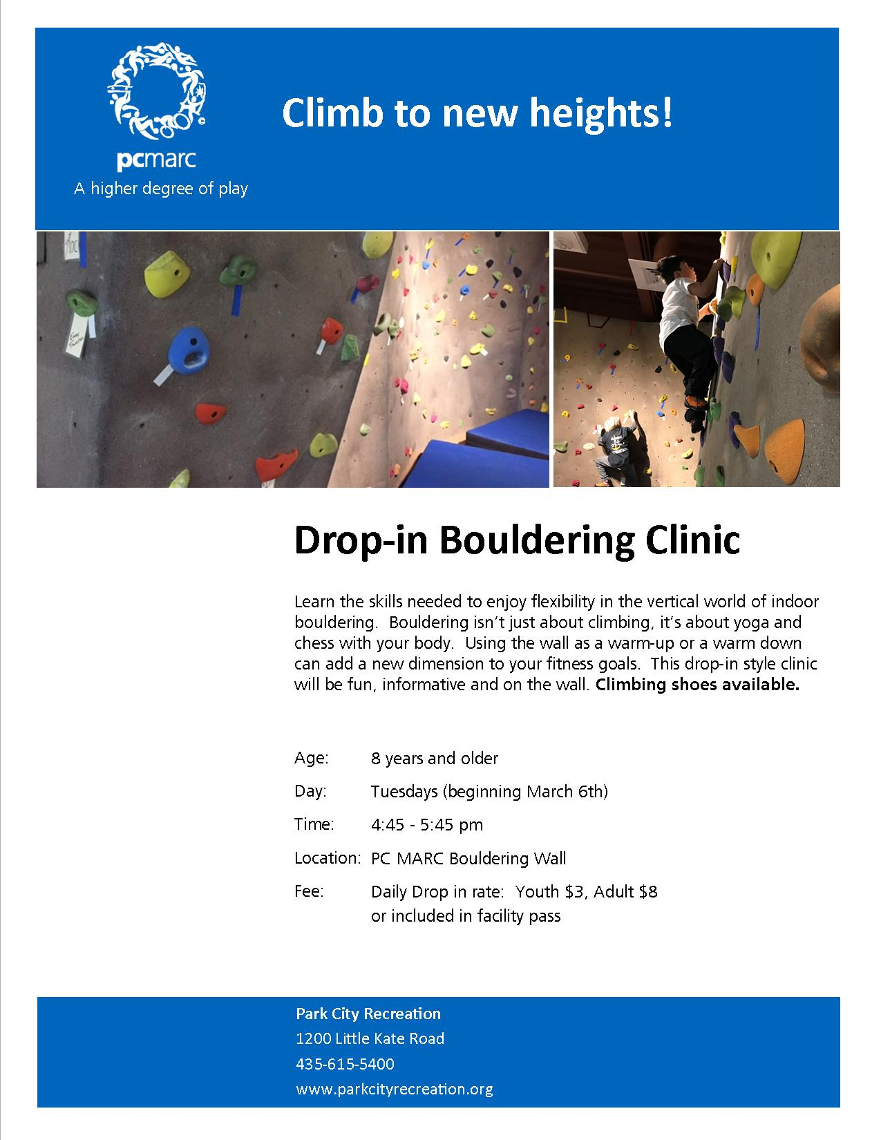 Drop-In Bouldering Clinic