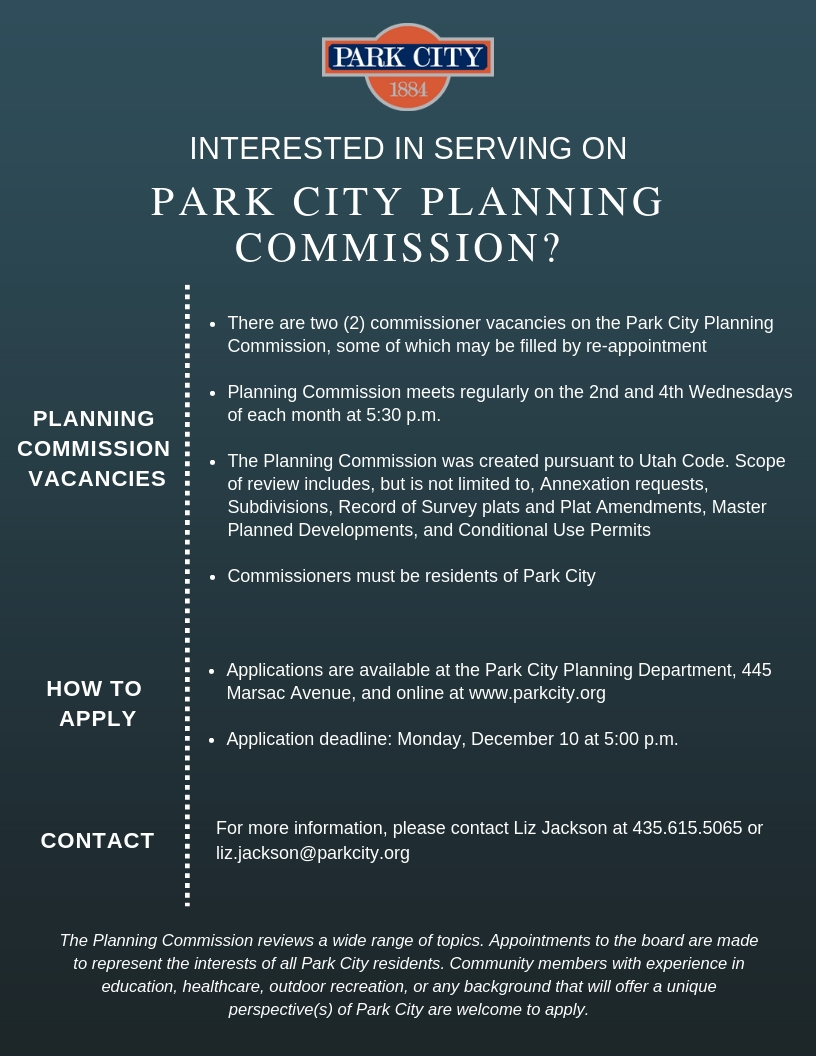 Planning Commission Flyer - 2018