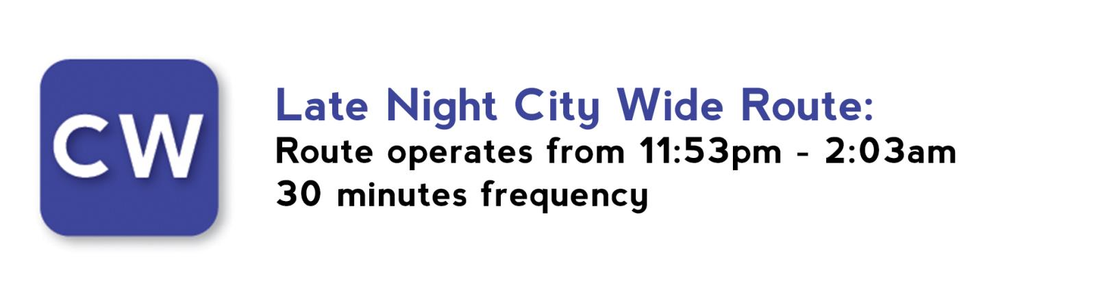 route late night cw