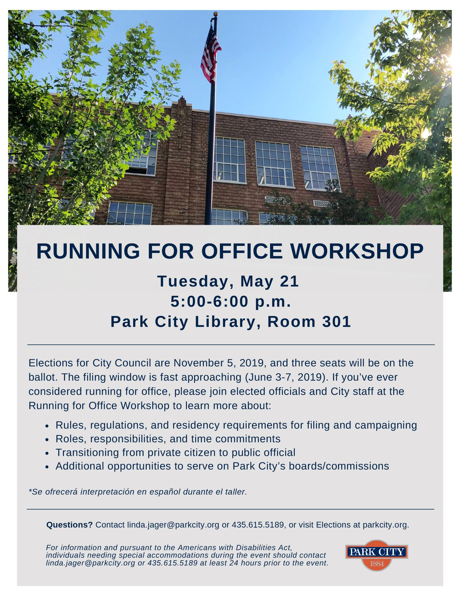 Running for Office Workshop 2019