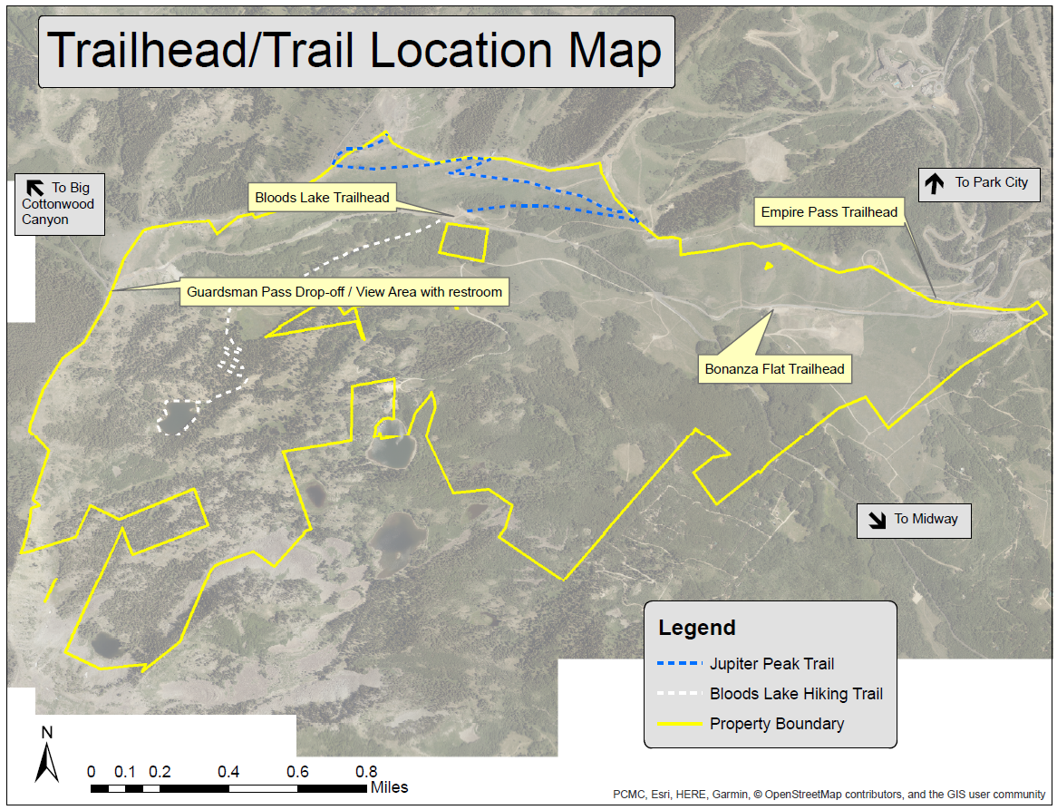 Trailhead-Trail Location Map PNG