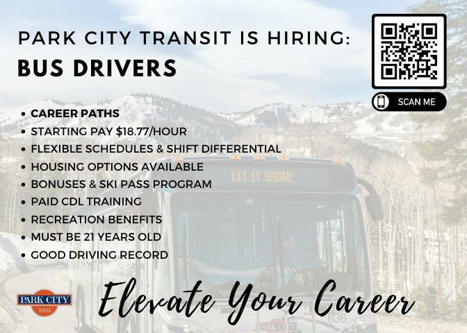 Park City Transit is hiring bus drivers!