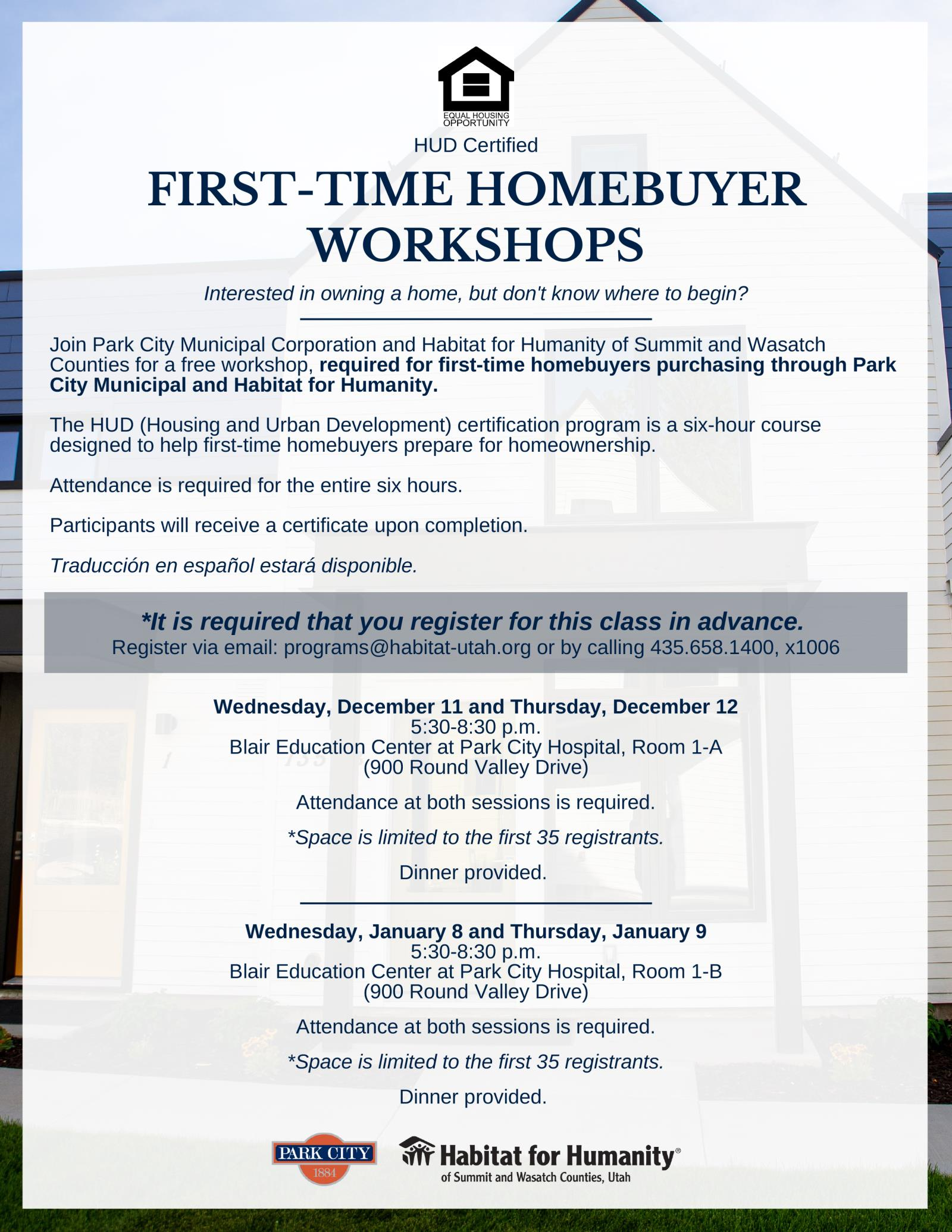 FLYER First-Time Homebuyer Workshops_2019  Ad v5