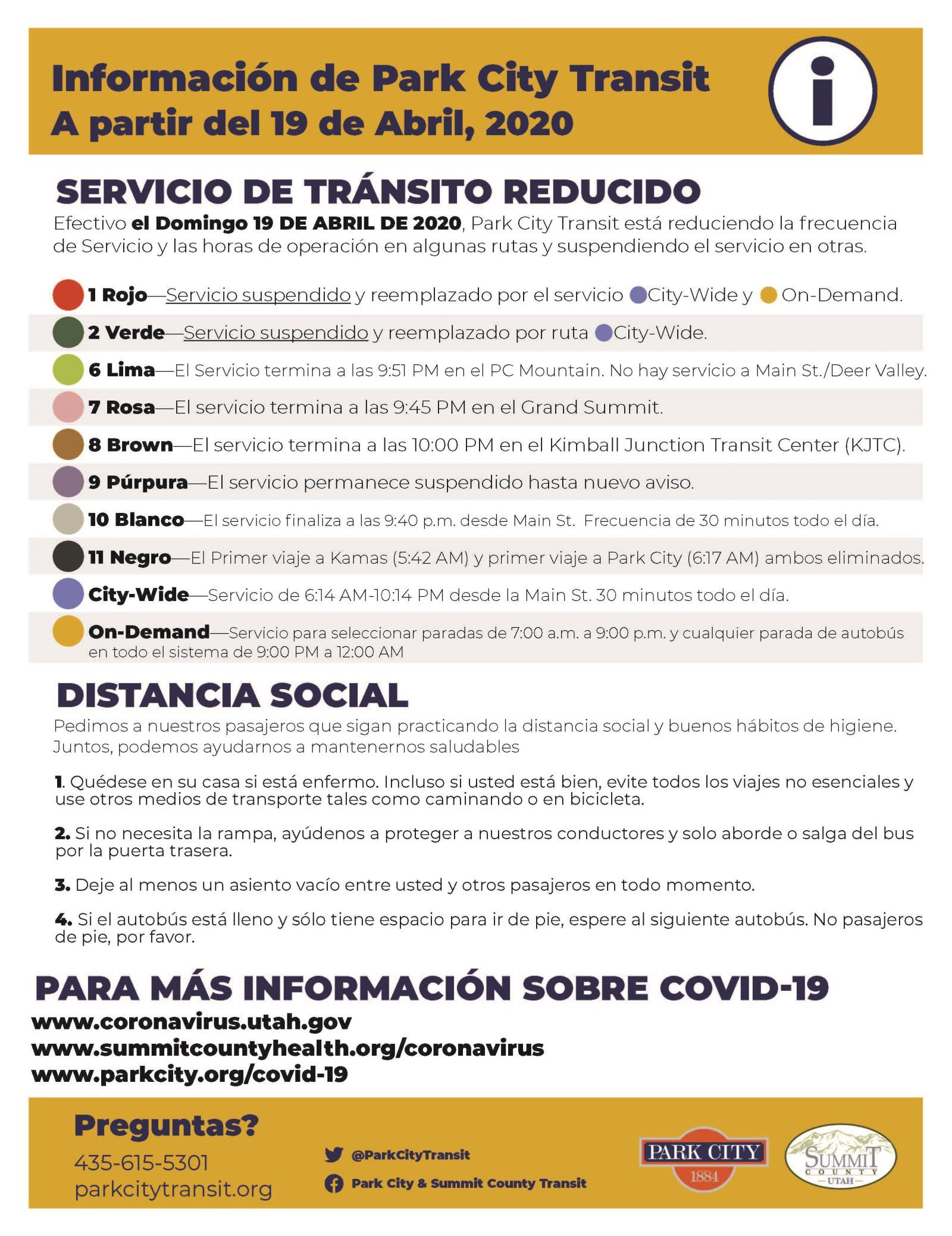 Flyer_Two_Service_Update_spanish